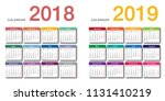 colorful year 2018 and year... | Shutterstock .eps vector #1131410219