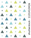 seamless pattern with triangles ... | Shutterstock .eps vector #1131413426