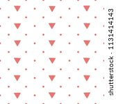 seamless pattern with triangles ... | Shutterstock .eps vector #1131414143