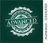 advanced written on a chalkboard | Shutterstock .eps vector #1131414503