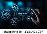 core values responsibility...   Shutterstock . vector #1131418289
