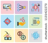 set of 9 simple editable icons... | Shutterstock .eps vector #1131422273