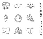 set of 9 simple editable icons... | Shutterstock .eps vector #1131422759