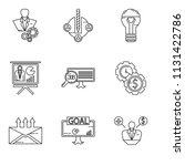 set of 9 simple editable icons... | Shutterstock .eps vector #1131422786
