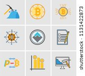 set of 9 simple editable icons... | Shutterstock .eps vector #1131422873