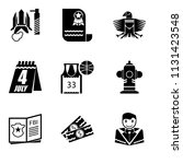 set of 9 simple editable icons... | Shutterstock .eps vector #1131423548