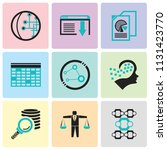 set of 9 simple editable icons... | Shutterstock .eps vector #1131423770