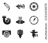 set of 9 simple editable icons... | Shutterstock .eps vector #1131424070