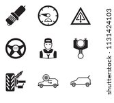 set of 9 simple editable icons...   Shutterstock .eps vector #1131424103
