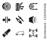set of 9 simple editable icons...   Shutterstock .eps vector #1131424106