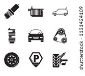 set of 9 simple editable icons...   Shutterstock .eps vector #1131424109