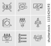 set of 9 simple editable icons... | Shutterstock .eps vector #1131424193