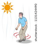 symptoms of heat stroke of aged ... | Shutterstock .eps vector #1131424490