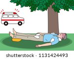 aged person receiving first aid ... | Shutterstock .eps vector #1131424493