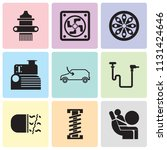 set of 9 simple editable icons... | Shutterstock .eps vector #1131424646