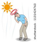 symptoms of heat stroke of aged ... | Shutterstock .eps vector #1131424763