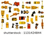 car toy diecast on the white... | Shutterstock . vector #1131424844