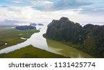 landscape of mountain in... | Shutterstock . vector #1131425774