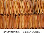 roofing tiles made of clay  | Shutterstock . vector #1131430583