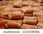 roofing tiles made of clay and... | Shutterstock . vector #1131430586