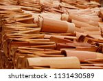 roofing tiles made of clay and... | Shutterstock . vector #1131430589