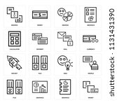 set of 16 icons such as money ... | Shutterstock .eps vector #1131431390
