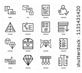 set of 16 icons such as graphic ... | Shutterstock .eps vector #1131431420