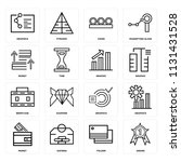 set of 16 icons such as award ...