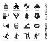 set of 16 icons such as tennis...