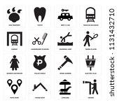 set of 16 icons such as viewer  ...