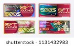 gift voucher gold template... | Shutterstock .eps vector #1131432983