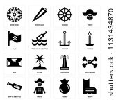 set of 16 icons such as boots ...   Shutterstock .eps vector #1131434870