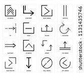 set of 16 icons such as left...