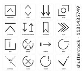 set of 16 icons such as arrow ... | Shutterstock .eps vector #1131435749