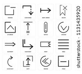 set of 16 icons such as minus ... | Shutterstock .eps vector #1131435920