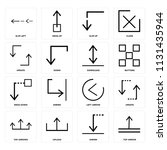 set of 16 icons such as top...