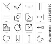 set of 16 icons such as... | Shutterstock .eps vector #1131435950