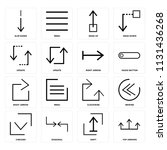 set of 16 icons such as top... | Shutterstock .eps vector #1131436268
