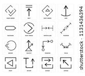 set of 16 icons such as expand  ... | Shutterstock .eps vector #1131436394
