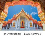 wat benchamabophit  bangkok ...   Shutterstock . vector #1131439913