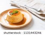 homemade caramel custard...   Shutterstock . vector #1131443246