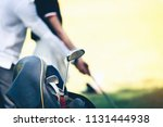 coaches are teaching golfers to ... | Shutterstock . vector #1131444938