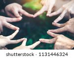 fingers are star shaped to... | Shutterstock . vector #1131446324