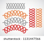 telephone cable mockup set... | Shutterstock .eps vector #1131447566