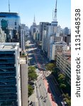 paulista avenue in sao paulo.... | Shutterstock . vector #1131448538