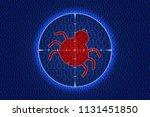 computer bug in binary code ... | Shutterstock .eps vector #1131451850