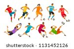 soccer players. sport concept.... | Shutterstock .eps vector #1131452126