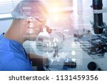 portrait of young scientist... | Shutterstock . vector #1131459356
