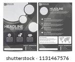 dark theme of business brochure ...   Shutterstock .eps vector #1131467576