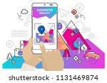 augmented reality mobile app... | Shutterstock .eps vector #1131469874
